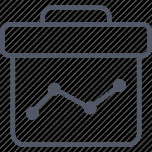 briefcase, business, data, money icon