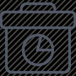 briefcase, business, chart, money, pie icon