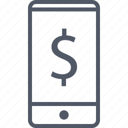 business, cell, dollar, money, phone icon