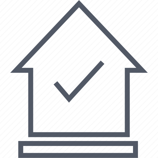 business, check, house, mark, money icon