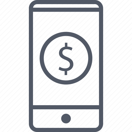 business, cell, circle, money, phone icon