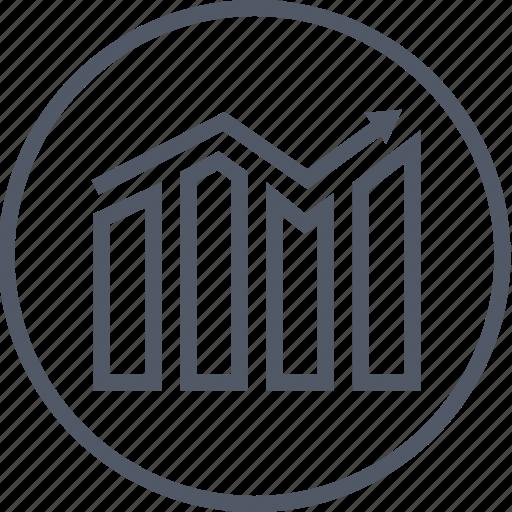 business, chart, circle, money icon