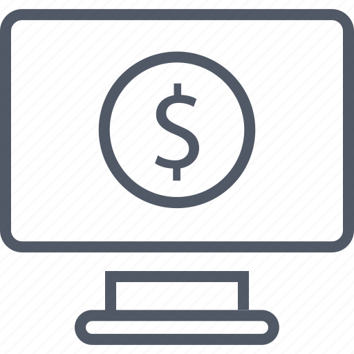 business, computer, money, monitor icon