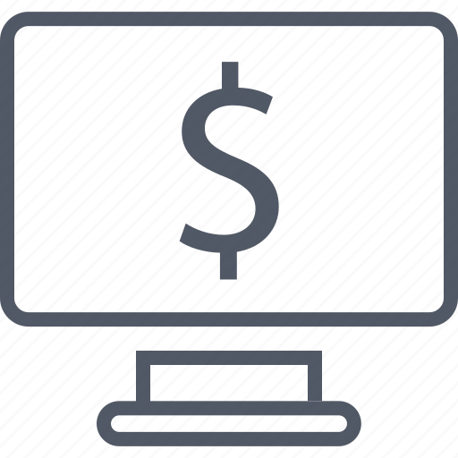 business, money, monitor, screen icon