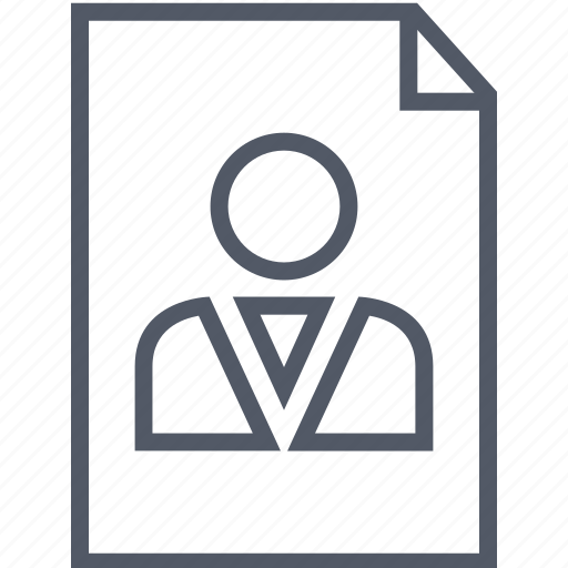 business, document, person, staff icon