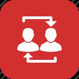avatar, business, data, exchange, storage, transfer icon