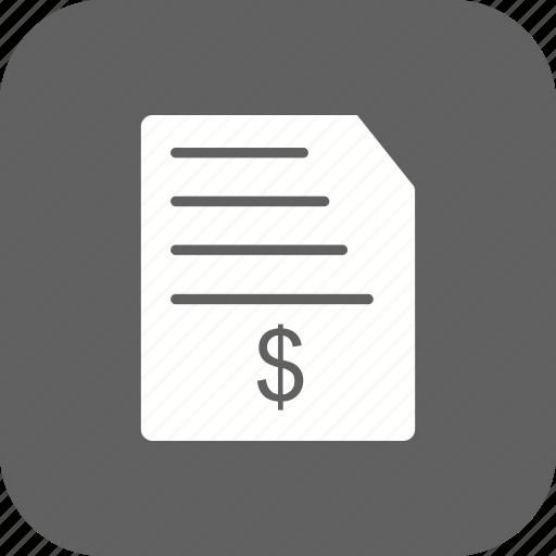 bill, invoice, order icon