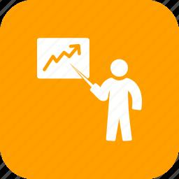 analysis, analytics, business, chart, finance, presentation icon