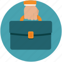 bag, business, hand, portfolio, purse icon