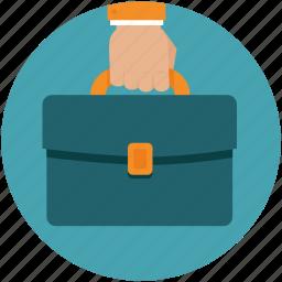bag, business, hand, portfolio, purse icon