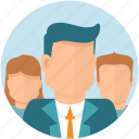 account, audience, boss, business, businessman, group, man, team, user, woman icon