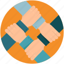 business, cooperation, group, hand, partner, partnership, people, team, teamwork icon