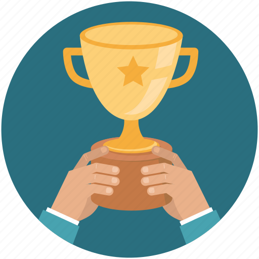 bowl, business, hand, success, victory icon