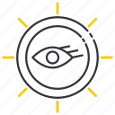 business, eyes, search, seeing, sight, spyglass, vision icon