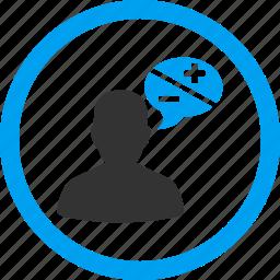 arguments, comment, communication, forum, opinion, speak, speech icon