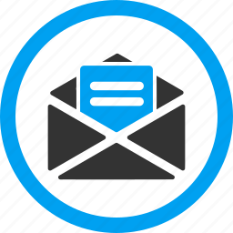 communication, email, envelope, letter, message, open mail, read icon