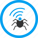 agent, bug, insect, radio spy, security, signal, technology icon