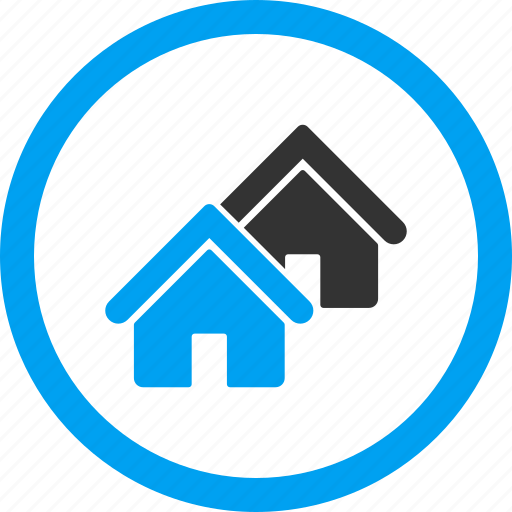 Company, houses, property, real estate, realty, town, village icon - Download on Iconfinder