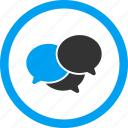 chat, comments, communication, forum, messages, talk, webinar icon