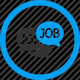 bubble, chat, comment, communication, job, labor market, message icon