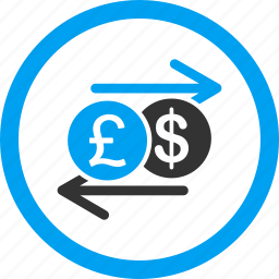 arrows, banking, currency exchange, financial, money transactions, payment, transfer icon