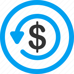 chargeback, money back, refund, restore, return, reverse, revert transaction icon