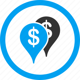 bank locations, branches, location, money, navigation, pin, pointer icon
