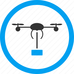 aircraft, avion, copter shipment, delivery, quadcopter, shipping, transportation icon