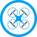 air drones, flying drone, nanocopter, quad copter, quadcopter, radio control uav, unmanned aerial vehicle icon