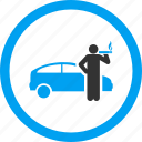 car, smoke cigarette, smoking, taxi driver, transport, travel, wait icon