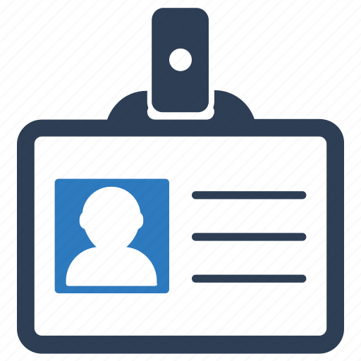 badge, id, identity, profile, security, user information icon