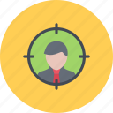 auditory, business, businessman, optimization, seo, site, target icon