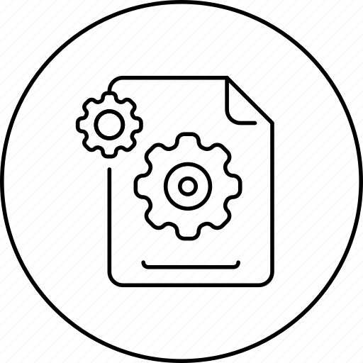 business, circle, document, file, in, marketing, setting icon