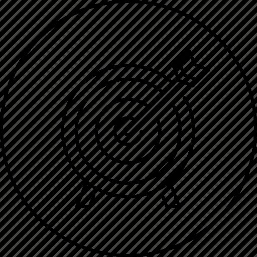 arrow, bullseye, business, circle, in, risk, target icon