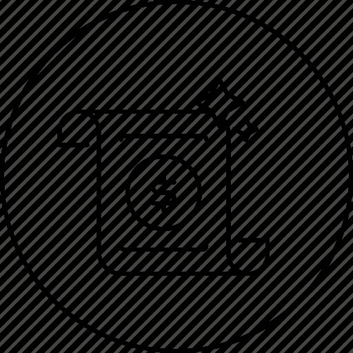 business, cash, circle, dollar, in, marketing, money icon