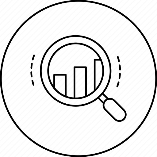 business, circle, graphs, in, marketing, search icon