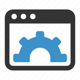 control pannel, gear, options, process, programming icon