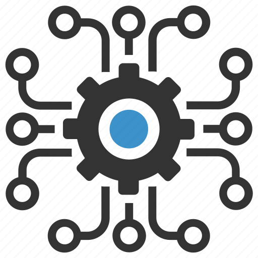 Gear, nodes, options, plan, process, productivity ...
