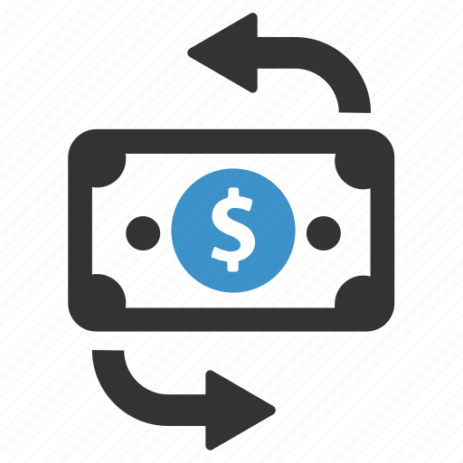 cash, change, currency, exchange, finance, money, swap icon