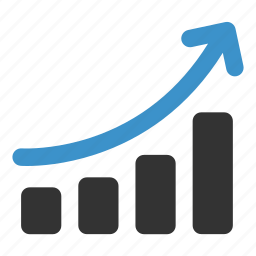 analysis, arrow, chart, graph, growth, increase, statistics icon