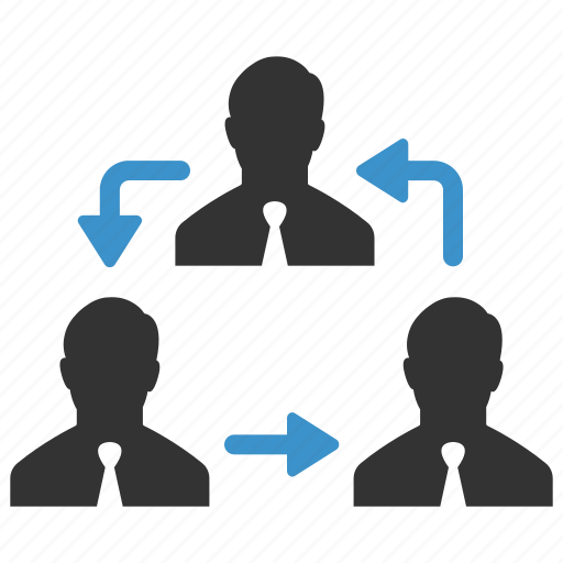 businessmen, change, human resources, move, people, rearrange, swap icon