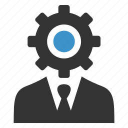 business, gear, man, manager, process, productivity, support icon