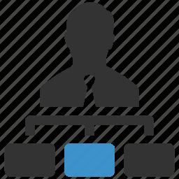 business, businessman, hierarchy, management, organization, planning, structure icon
