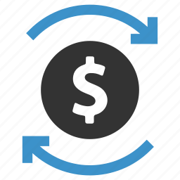 change, currency, earnings, exchange, finance, money, swap icon