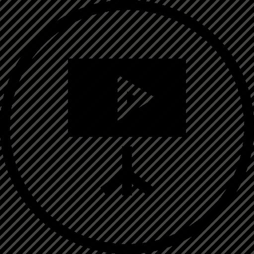media, multimedia, play, projector, screen icon