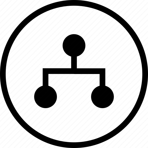 algorithm, authentication, chart, graph, network, security icon