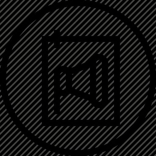 annoucement, brand, building, mrketing, personal, speaker icon