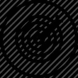 aim, dart, focus, illusion, marketing, target icon