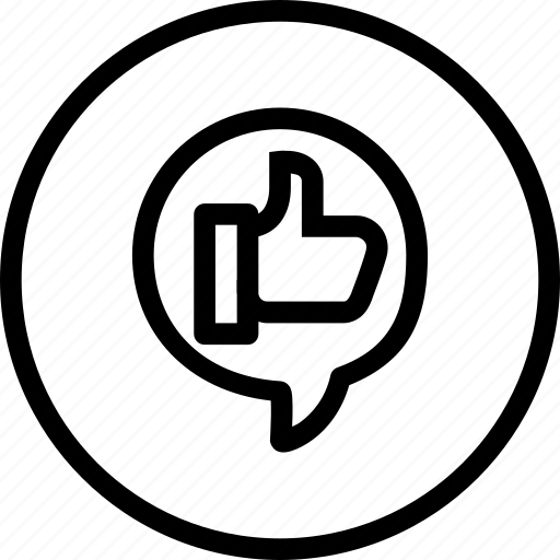 chat, like, marketing, media, motivate, social, thumb icon