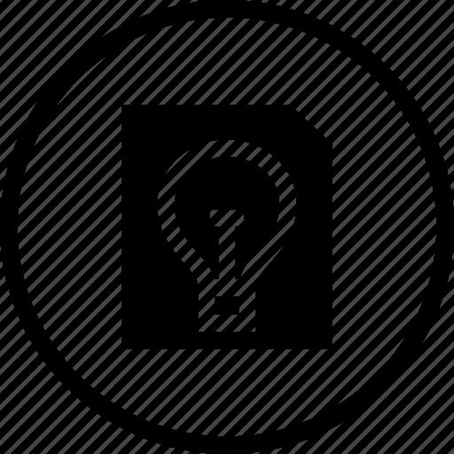 bulb, college, entry, exam, idea, paper icon